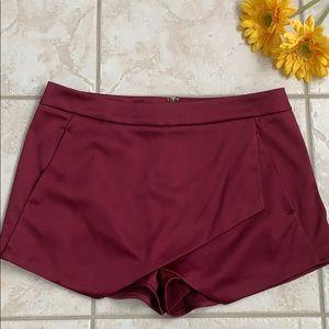 Beautiful burgundy mini skirt